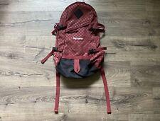 Supreme Cordura FW11 Maroon Checkered Backpack Damier Print