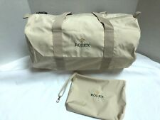 Rolex Collapsible Bag Luggage & Travel Pouch Nylon Beige Italy Authentic, NEW