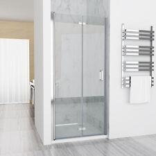Nischentür Duschabtrennung Duschwand Dusche 180° Falttür NANO ESG 90 x 195 cm