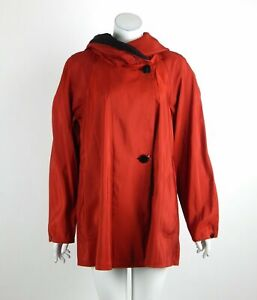 Mycra Pac Mini Donatella Raincoat Rogue/Black Reversible Pleated Hood 1-S/M New