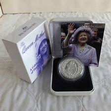 Australia 2002 $5 queenmother 1 OZ (approx. 28.35 g) .999 Plata Prueba Completa