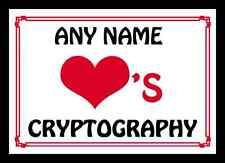 Love coeur cryptographie personnalisés napperon