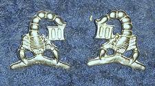 3 CAV REGT SCORPION COLLAR BADGES - REPRO AUSTRALIAN ARMY ARMOURED CORPS