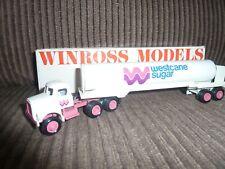 Winross 1983 Diecast Truck - White - Westcane Sugar Tanker - Mint - Boxed