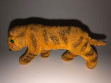 Vintage Wagner Handwork Kunstlerschutz Flocked Tiger Figure From West Germany