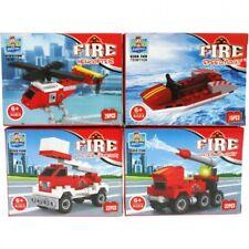 12x Bausteine Set Feuerwehr Mitgebsel Kindergeburtstag Spielzeug Auto Fahrzeuge