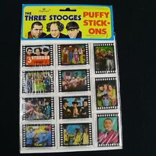 The Three Stooges Puffy Stick-Ons Stickers Imperial 1988 Sealed Vintage