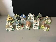 Museum Collections Vintage 1987 Lot Of 11 Miniature Cottages Buildings