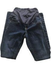 Old Navy Maternity Skinny Jeans Belly Panel Pull On Denim EUC 2 Regular