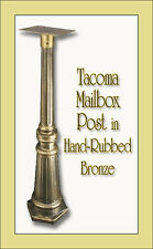 Special Lite Tacoma Mailbox Post - Surface Mount - 14 Color Choices - No Rust!
