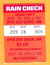 4/6/82 @ TWINS TICKET STUB-1ST GAME EVER@METRODOME-GAETTI 2 HRS/EISENREICH DEBUT
