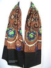 Oilily Schal NEU O-Rose in Braun Ornament Muster für Jacke Mantel Damen scarf