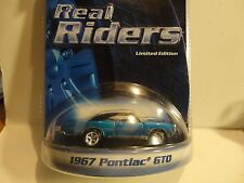 Hot Wheels Real Riders Series Blue 1967 Pontiac GTO