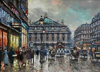 The Palais Garnier Paris Opera Painting by Antoine Blanchard Reproduction
