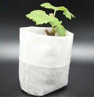 100 Stück faltbare Pflanzbeutel 8×10 cm Pflanztaschen Anzuchttöpfe balkon plant