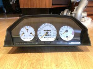 AMG E500 White Hammer Cluster Meter Dash Speedo Rare W124 Mercedes-Benz 300CE
