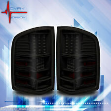 2007-2013 Chevy Silverado LED Tail Lights Black Smoke Lens Rear Lamps PAIR
