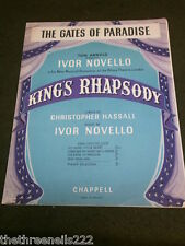 ORIGINAL SHEET MUSIC - THE GATES OF PARADISE from KING'S RHAPSODY