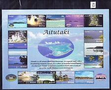 aitutaki ca 2010 TOURISM Aerial Views Islands atoll hut residence Sunset ms 15v