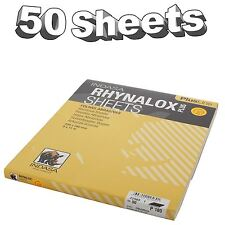 Indasa Rhynalox Plusline Production Paper P180 grit Sand Paper Sheets Pack 50