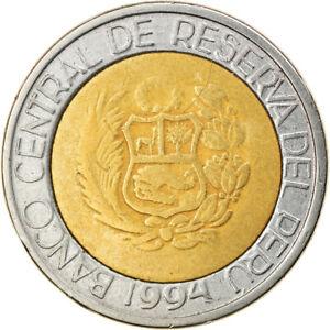 [#810165] Coin, Peru, 2 Nuevos Soles, 1994, Lima, VF(30-35), Bi-Metallic, KM:313