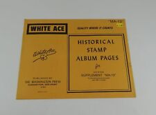 "White Ace Isle of Man Supplement ""MA-13"" 1986 Historical Stamp Album Pages"