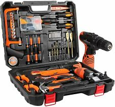 Tool Kit with Drill 16.8V Cordless for 60 Accessories Home Cordless Repair Kit T