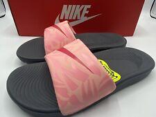 Nike Kawa Slide Print Sandals Slip-On Pink/Gray Youth Big Kids Girls 2 Y New