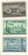 US 1947 Classic Air Mail Set of 3 VF  MNH