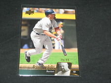 KEVIN YOUKILIS REDSOX LEGEND GENUINE AUTHENTIC LIMITED EDITION BASEBALL CARD /99