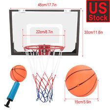 Indoor Mini Basketball Hoop Backboard Set Home Office Room Door w/ Ball &Pump