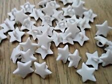 70pcs Novelty Theme Dress It Up Button Small Star Card-making  White Shank 12mm