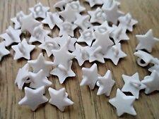 70pcs Novelty Theme Dress It Up Button Small Star Card-making  White Shank 12mm