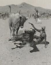 Remington Frederic A Critical Moment Canvas 16 x 20  #3589
