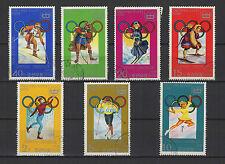Corée Jeux Olympiques d'hiver Sapporo 1978 série de 7 timbres / T1551