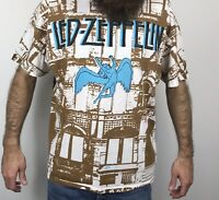 Vintage Led Zeppelin T Shirt XL 90s All Over Print Physical Graffiti Winterland