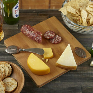 Football 2 Piece Serving Set - Cheese Board & Spreader Super Bowl Party NEW