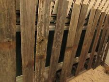 "Reclaimed Old Fence Wood Boards  15 Fence Boards 48"" Weathered Barn Wood  Planks"