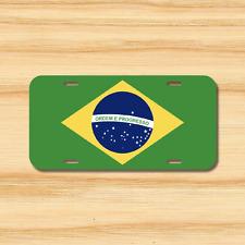 Brazil Flag License Plate Vehicle Auto Tag Rio de Janeiro Brasilia FREE SHIPPING