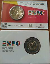 ITALIA 2015 MONETA 2 EURO FDC EXPO MILANO COINCARD ZECCA IPZS. PREZZO OFFERTA!!!
