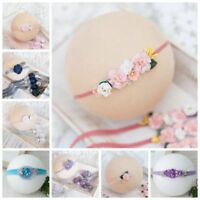 Handmade Newborn Baby Toddler Girls Tieback Headband Photo Prop Photography