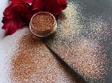 "Nail Art ""Copper"" Rose Goldy Sparkle Glitter Powder Dust Mix Pot Tip Decoration"