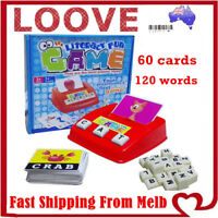 Literacy Fun Game Kid Toys Early Learning English Word Card Children Educational