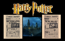 Harry Potter Set Of  2 The Daily Prophet Boy Who Lived/Lies Flyer/Poster Replica