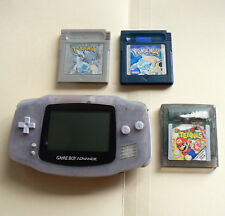 Gameboy Advance + Pokemon Silver + Blue + Mario Tennis games - all working
