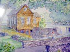 Artist Signed CHARCOAL Drawing ROBERT CONRAD LEDOUX Print TOY MILL Weston CT '96