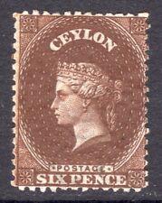 CEYLON 1867-70 QV 6d red-brown wmk short Crown CC p12½ un., SG 67c cat £65