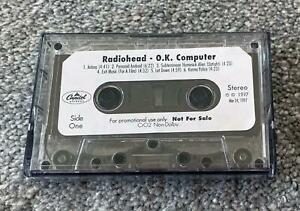 RADIOHEAD OK COMPUTER AUTHENTIC PROMO ADVANCE CASSETTE TAPE CAPITOL RECORDS VTG