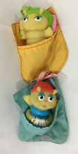 Vintage Playskool Glow Worms PVC Figures w/ Sleeping Bag Glo Friends Bugs