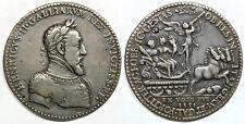 (CA. 1552) FRANCE HENRI II (1547-1559) LARGE MEDAL (53.5mm) BY ETIENNE DE HUMOR